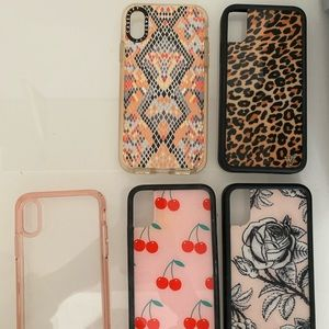 iPhone X cases (wildflower)